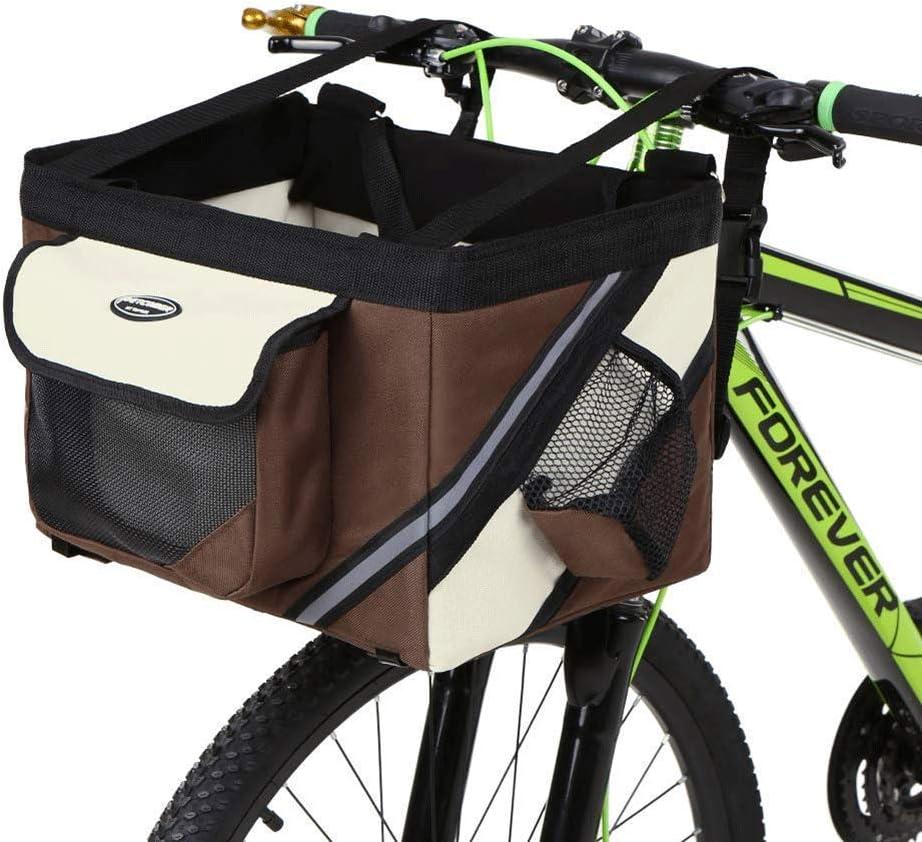 Black Summp Bicycle Pet Carrier,Traveler 2-in-1 Pet Bike Basket and Over The Shoulder Carrier