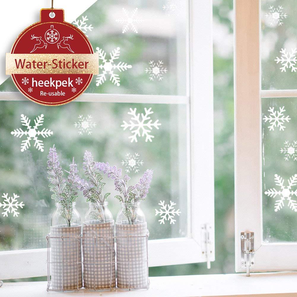 81 Christmas Snowflakes Window Stickers White Snowflakes Window Clings Winter Home Decal Heekpek®