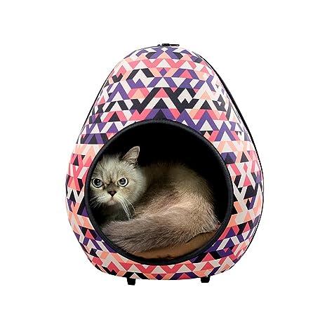 Ibiyaya Gato Cueva Pod para Gatos Indoor también Ideal para hurón y Cachorro Cama