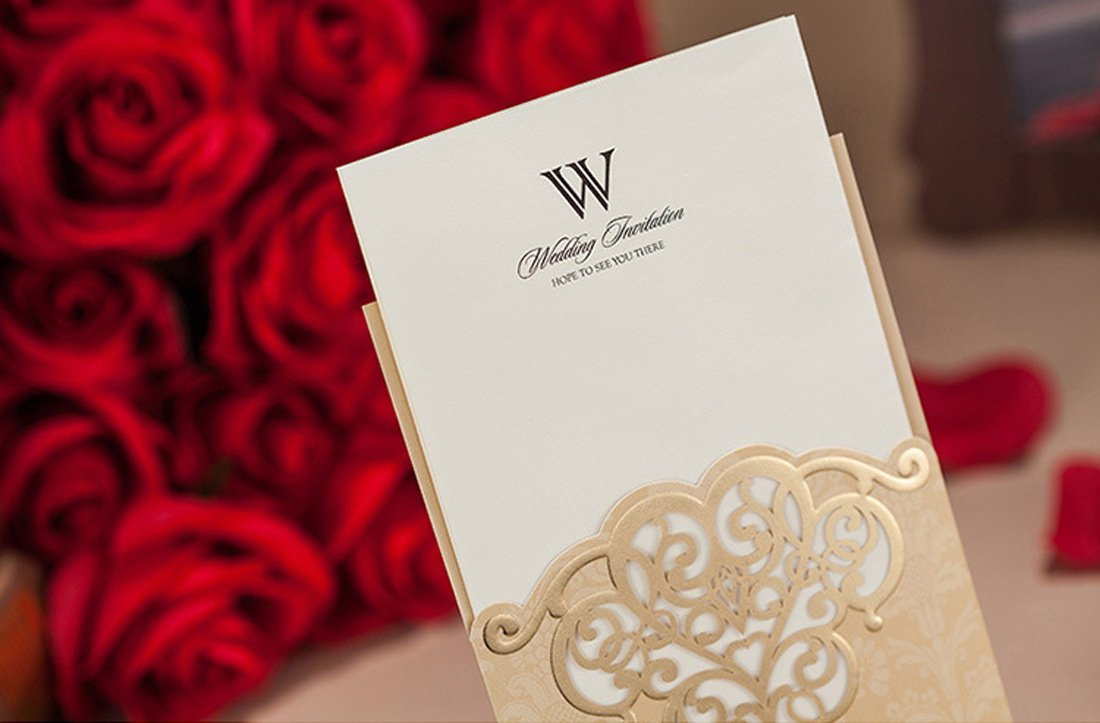 Amazon.com: Wishmade 50 Count Vintage Pockets Invitations Cards Set ...