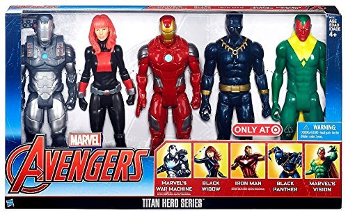 [Marvel Avengers Titan Hero Series Exclusive 5 Figure Set] (Black Panther Costume Marvel)