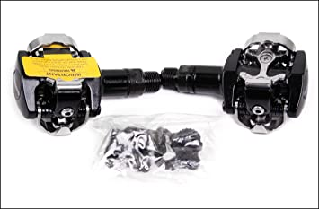 a692caea192 Image Unavailable. Image not available for. Colour: New 2014 Shimano Pd-m505  Black Mountain Bike MTB Clipless Pedals w/SPD Cleats