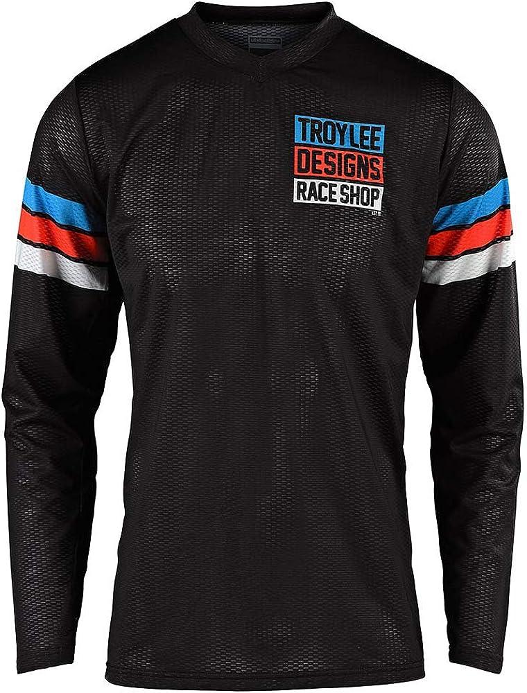 Troy Lee Designs Mens Offroad Motocross GP AIR Saddleback Jersey Small, Black//Cyan