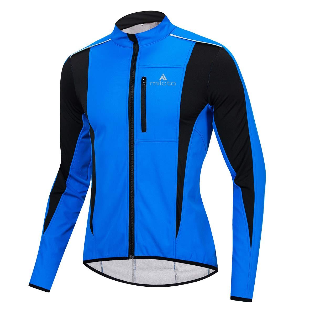 Vgowater MILOTO Mens Fleece Cycling Jacket Windproof Reflective Warm Biking Wear