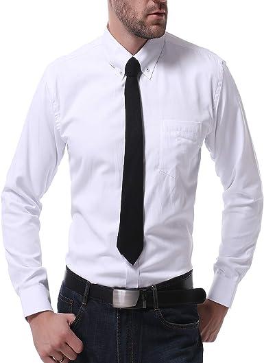 TS, RD.UG Camisa de Vestir para Hombre, Lisa, Ajustada, Manga ...