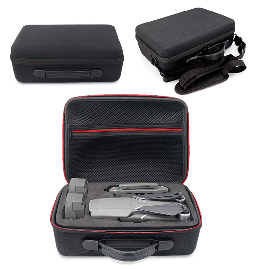 YAKOK General Waterproof Single Shoulder Bag 3 Batteries Safety Case Box Drone Accessories for DJI Mavic 2 PRO/Mavic 2 Zoom (Black)