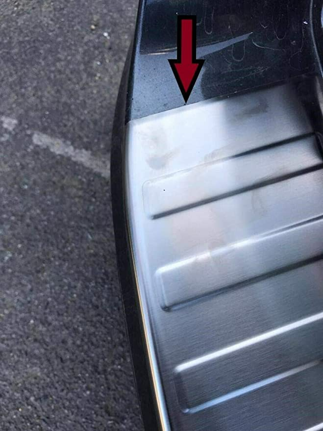 ToFit 2015Up protector de ara/ñazos SSteel Protector de parachoques trasero cromado para Ford Mondeo Mk5 Turnier