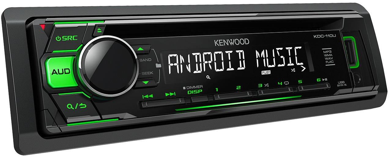 Kenwood KDC-110UG  CD-Receiver mit frontseitigem USB//AUX-Eingang schwarz
