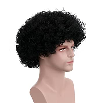 Amazon.com: Fluffy Afro Synthetic Clown Wig for Men Women Cosplay Anime Party Christmas Halloween Fancy Funny Wigs (Black): Beauty