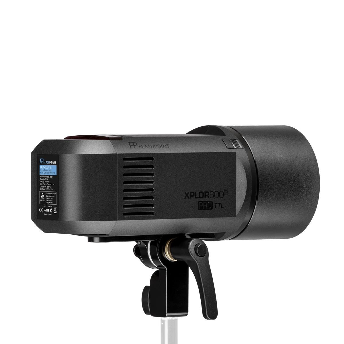 Flashpoint XPLOR 600PRO TTL Battery-Powered Monolight with Built-in R2 2.4GHz Radio Remote System R2 Pro Transmitter for Nikon (Bowens Mount) - Godox AD600 Pro by Flashpoint (Image #4)