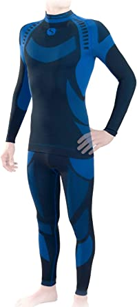 Sesto Senso® Conjunto Térmico Hombre Ropa Interior Térmica de Manga Larga Camisa y Calzoncillos Largos Pantalones Leggins Termo Activo Set: Amazon.es: Ropa y accesorios