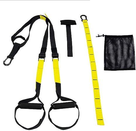 Oyria Sling Trainer Set con Anclaje para Puerta Ajustable hogar – Entrenador de suspensión de Fitness Adecuado para Entrenamiento en Interiores y ...