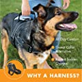 Friends Forever No Pull Dog Harness Large Breed - Easy Walk Harnesses for Large Dogs, Black Dog Vest with Handle & 3M Reflective Material for Extra Control and Safety