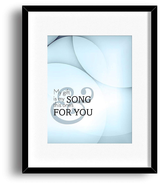 Elton John Song Lyrics Typography Print Poster Artwork Your Song
