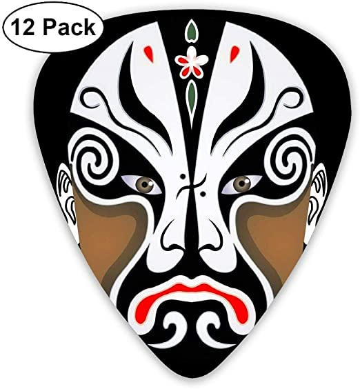 Peking Opera Face China 351 Shape Classic Picks 12 Pack For Electric Guitar Acoustic Mandolin Bass: Amazon.es: Instrumentos musicales