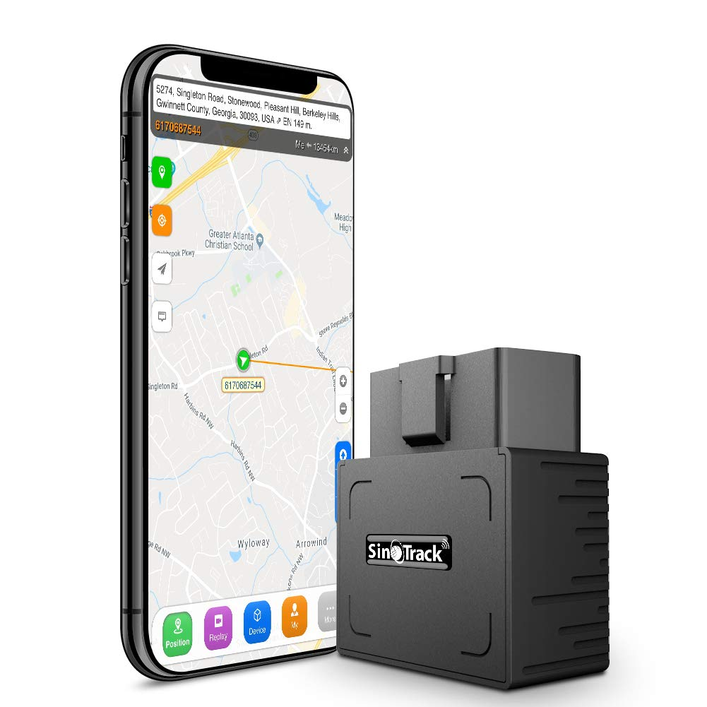 SinoTrack GPS Tracker Platform No Monthly Fee, Real-Time OBD Car GPS Tracking Device Locator, Mini OBD II Vehicle Tracker with Alert System for Car, Taxi and Truck, Support Free Platform Lifetime by SinoTrack
