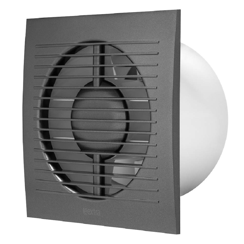/Ø 125mm Anthrazit Badl/üfter Wandl/üfter Ventilator Wandventilator Abluftventilator Leise f/ür K/üche Bad WC