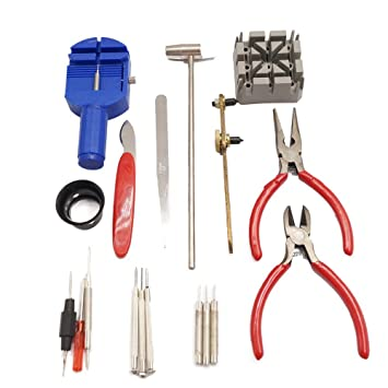 Amazon.com: Preeyawadee 18 PCS watches repair tools set watch band link pins remover relojes tool for jewelry Professional Watch Jewelry Repair Tool Kit: ...