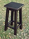 Black/ bar stool/ counter stool/ wood/ distressed/ 25