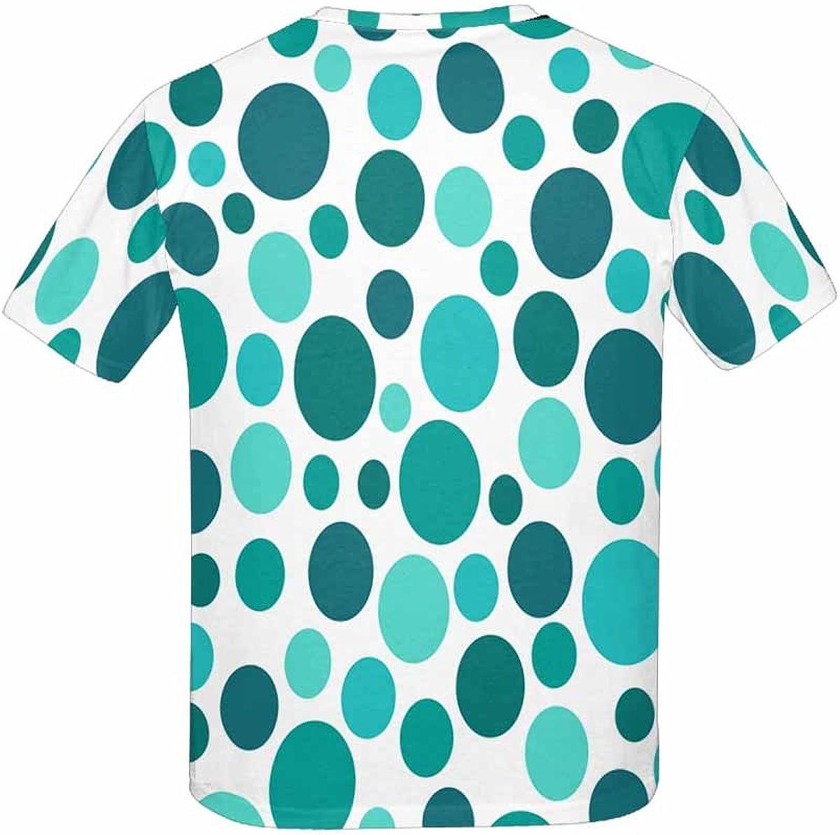 INTERESTPRINT Kids T-Shirts Polka Dot Pattern XS-XL