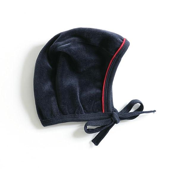 f0d8c15e9579 mundo melocoton Bonnet en Velours pour Bébé Aqua Rouge 0-2 Mois  Amazon.fr   Bébés   Puériculture