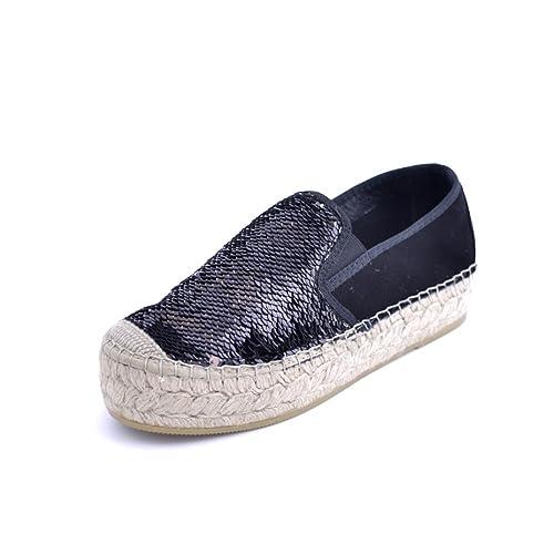 Vidorreta - Alpargatas para Mujer Negro Negro: Amazon.es: Zapatos y complementos