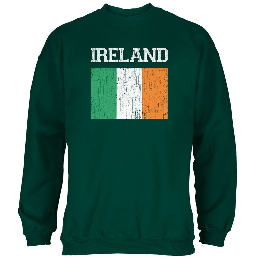 World Cup Distressed Flag Ireland Forest Adult Sweatshirt