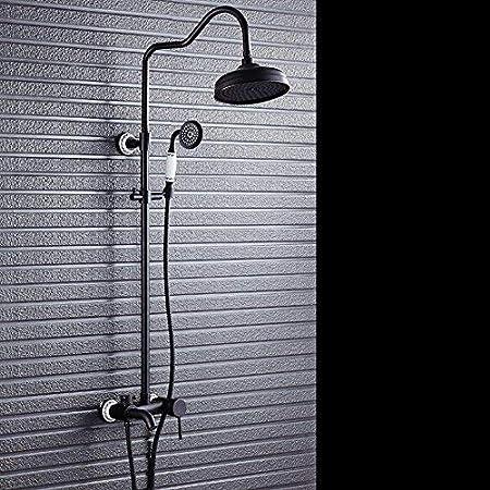 sdkky de Negro Bronce ducha Set de ducha Vintage europeos Cobre ...