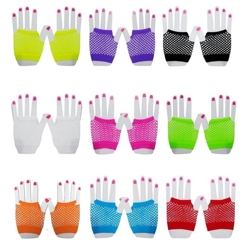 80s Short Fishnet Adult Gloves Image 1