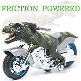 Tyrannosaurus Dinosaur Motorcycle Toys Animal Friction Motorcycles Toys with Mini Plastic Figures Dinosaur