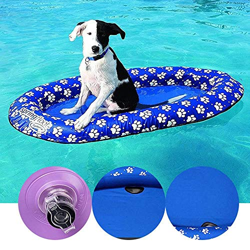 MOGOI Dog Pool Float Inflatable Raft for Pets, Swimming Pool Rafts Toy for Summer 55x35 Inch