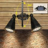 Product review for [Newest Double Lamp Base] YINGHAO 400LM Super Bright Solar Led Spotlight/ Outdoor Waterproof Double Light Headed Fixture for Wall Garage Porch Garden Patio Yard Driveway Doorstep Etc.