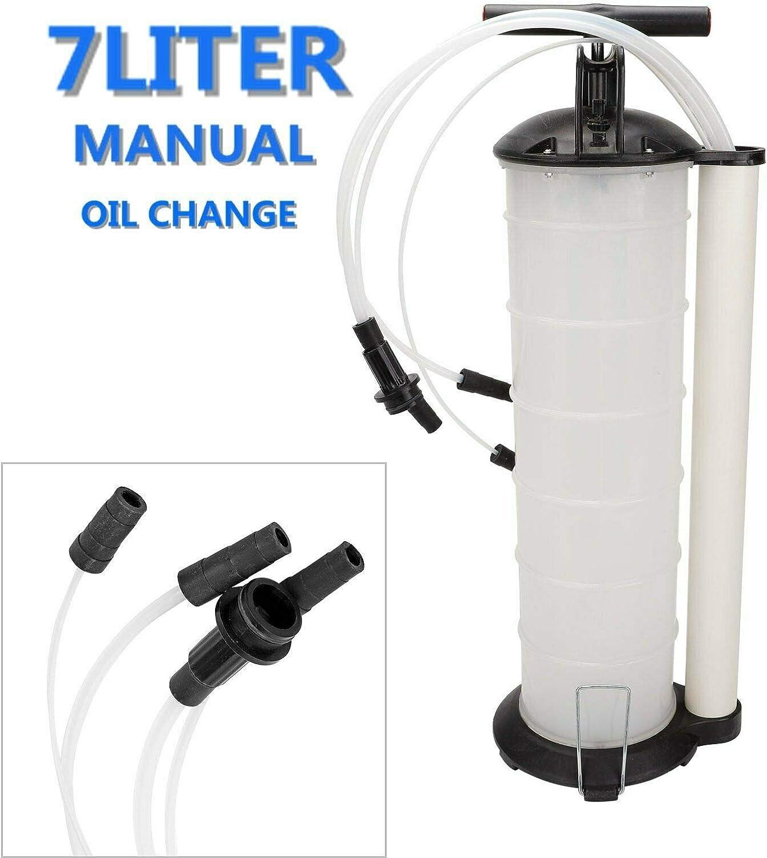 BLACKHORSE-RACING Oil Fluid Extractor 7 Liter Engine Oil Extractor Oil Changer Vacuum Fluid Extractor Pump Tank Remover (7Liter Oil Extractor)