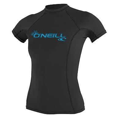 45d46e60 ONEILL WETSUITS O'Neill - Camiseta de Neopreno para Mujer con protección  UV, Manga Corta, Cuello Redondo