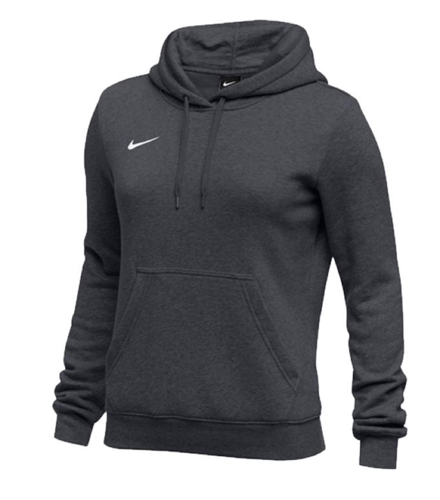 Nike Womens Pullover Club Fleece Hoodie (Small, Anthracite) by Nike