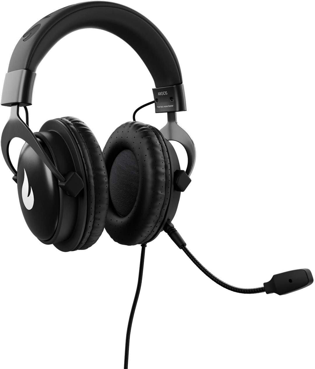 Flamefall Argos - Auriculares gaming HD con drivers de 50mm, micrófono extraíble y cómoda estructura de metal (PS4)