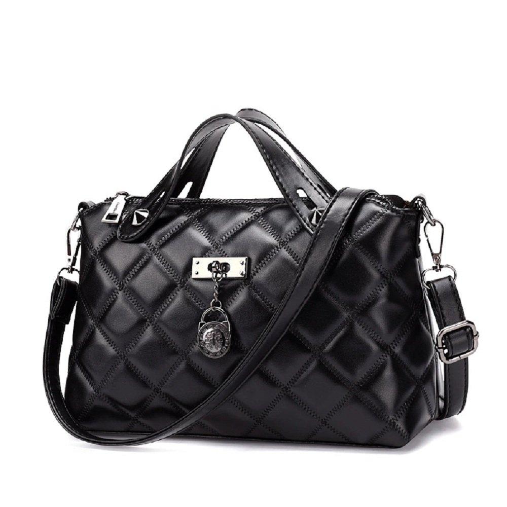 FANCY LOVE Top Handle Black Cross Body Shoulder Bag for Women (black-1)
