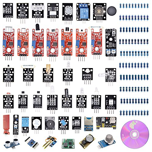VKmaker T30 45-in-1 Sensors Modules Starter Kit for Arduino