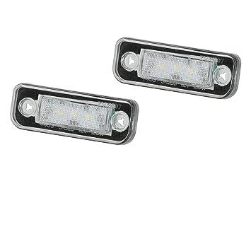 LED SMD Premium Kennzeichenbeleuchtung Kennzeichen Leuchten CanBus E-Pr/üfzeichen
