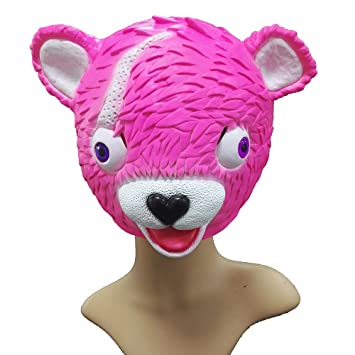 SDT Máscara Halloween Fortnite Cuddle Team Leader Máscara para Niños Chicas Chicos Casco Mask de Cabeza