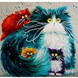 Blxecky 5D DIY Diamond Painting By Number Kits,Cat(12X12inch/30X30CM)