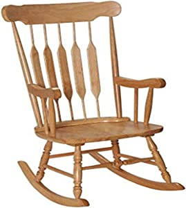 GiftMark Adult Solid Wood Rocking Chair, Natural
