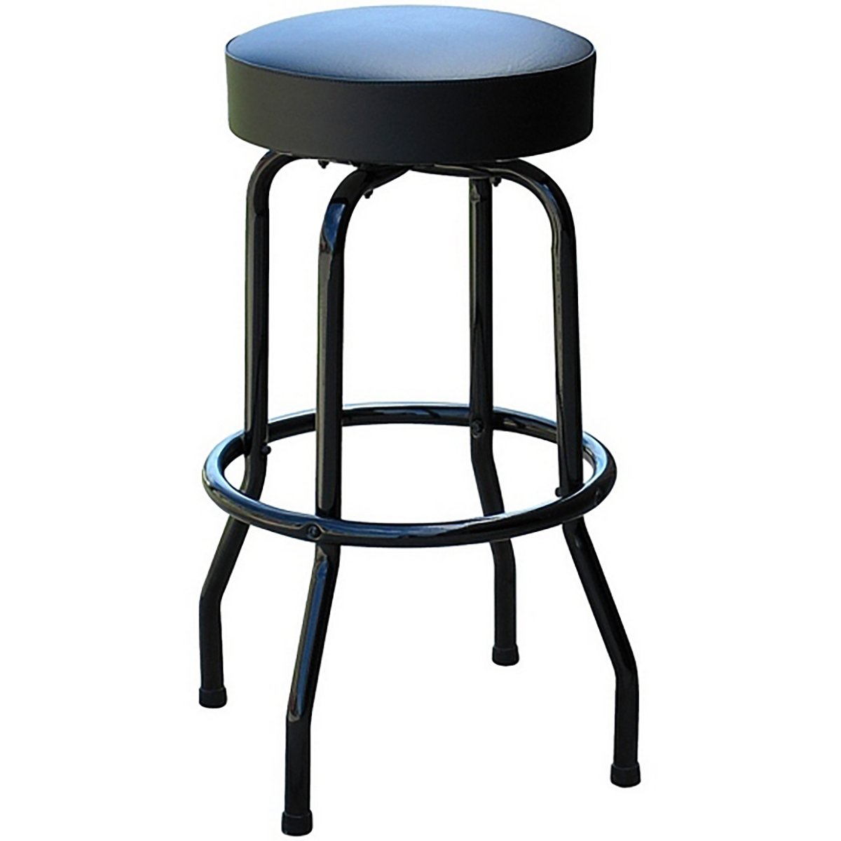Richardson Seating Swivel bar Stool with Frame Seat, 30 , Black