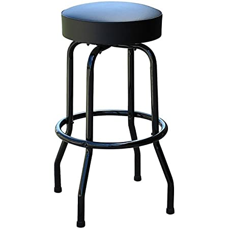 Richardson Seating 0-1950BLKBLK Swivel bar Stool with Frame Seat 30 Black