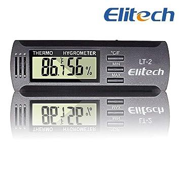 Elitech LT-2 Mini Portatil Medidor Temperatura Humedad,LCD Monitor ...
