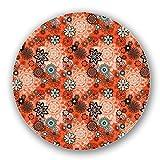 Uneekee Painted Flower Lazy Susan: Large, Dark Wooden Turntable Kitchen Storage