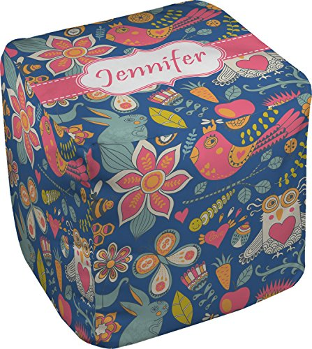 RNK Shops Owl & Hedgehog Cube Pouf Ottoman - 13'' (Personalized) by RNK Shops