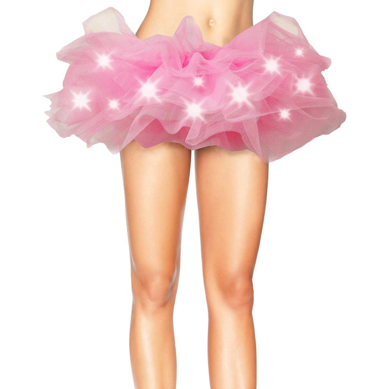 Divas Love Women's LED Light Up Neon Tulle Tutu Skirt