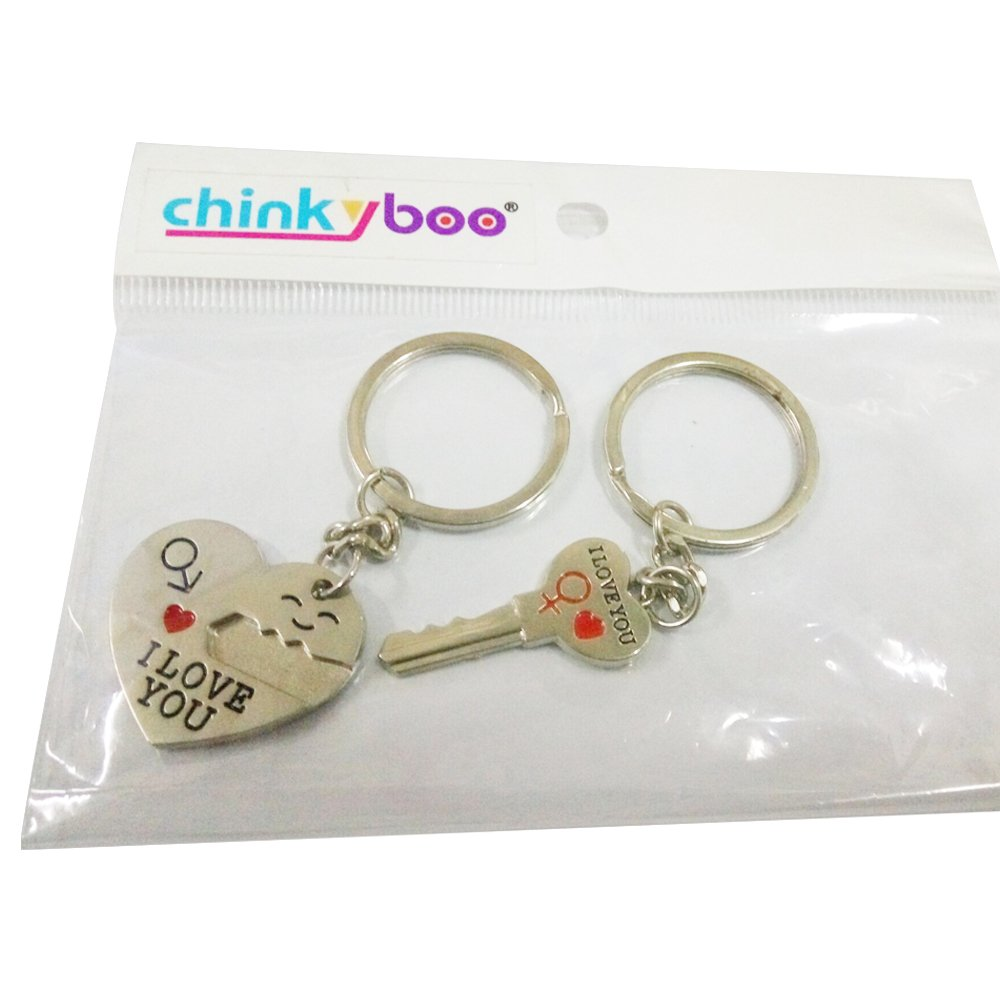 Key - Lover Sweetheart Gift for Valentines Day Wedding Anniversary I Love You Heart - Birthday-come with a chinkyboo logobag chinkyboo/® Couple Keychain Keyring