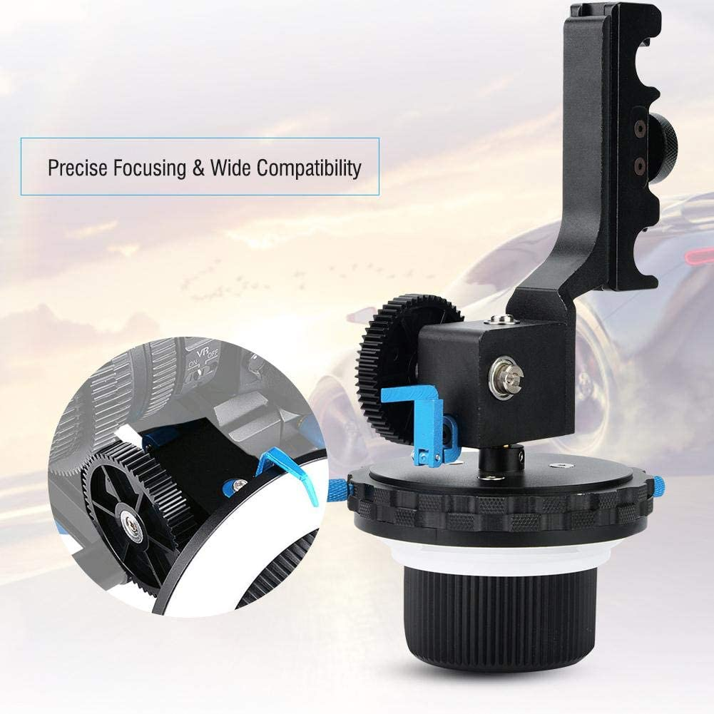 Vbestlife Follow Focus Quick Type Focalizer Focusing Follow with Gear Ring Belt Photographic Equipment for DSLR Camera//Camcorder//Video Cameras